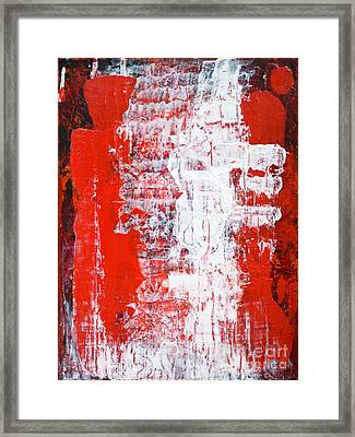 Sacrifice Red White Abstract By Chakramoon Framed Print by Belinda Capol