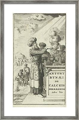 Sacrificing Priest With Censer, Jan Luyken Framed Print by Jan Luyken And Jasper Goris Wed. And Dirk Goris
