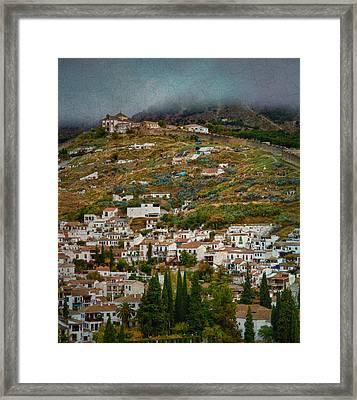 Sacromonte And Albayzin From The Alhambra Framed Print