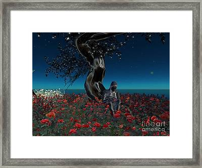 Framed Print featuring the digital art Sad And Lonely by Susanne Baumann