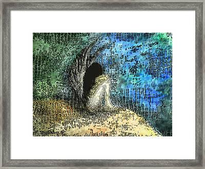 Sad Angel Framed Print by Shabnam Nassir