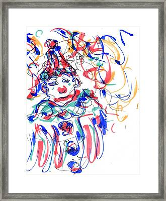 Sad Clowns I Framed Print