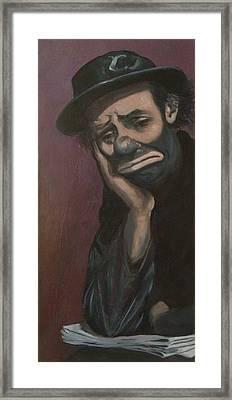 Sad Emmett Sr Framed Print by Christina Clare