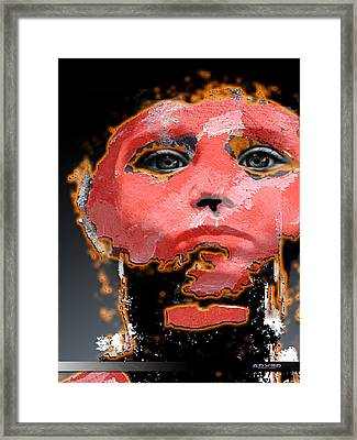 Framed Print featuring the digital art Sad Eyes by A Dx