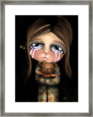 Sad Eyes Framed Print by Karin Taylor