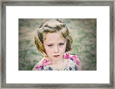 Sad Girl Digital Art Framed Print by Susan Leggett
