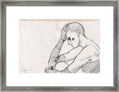 Sad Framed Print by H James Hoff