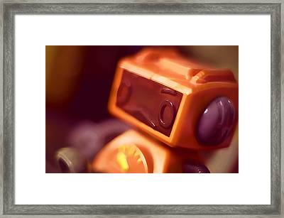 Sad Little Robot Framed Print by Scott Norris