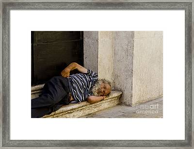 Sad Nap Framed Print