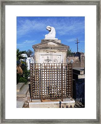 Framed Print featuring the photograph Saddest Statue Tomb by Alys Caviness-Gober