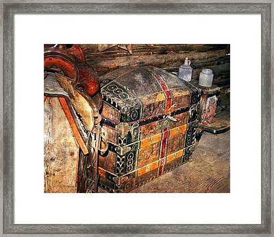 Saddle And Chest Framed Print