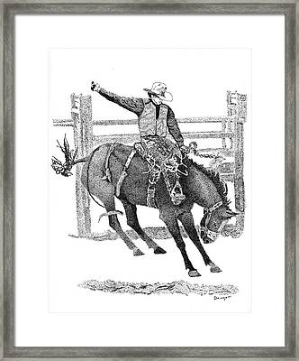 Saddle Bronc Framed Print