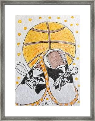 Saddle Oxfords And Basketball Framed Print