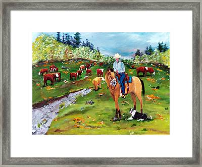 Saddle Pals Framed Print by Gail Daley