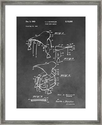 Saddle Patent Illustration Framed Print