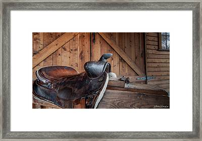 Saddle Rest Framed Print by Steven Milner
