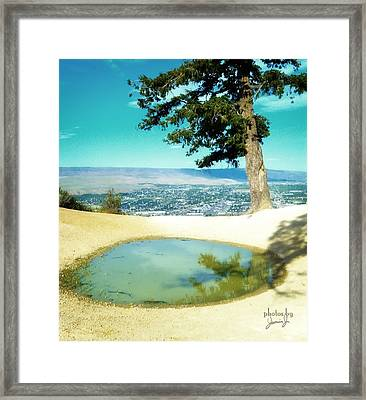 Saddle Rock Oasis Framed Print