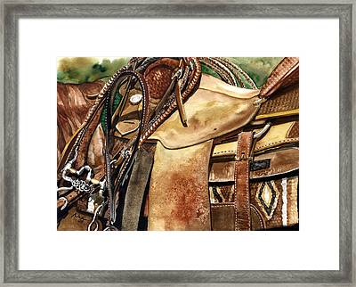 Saddle Texture Framed Print