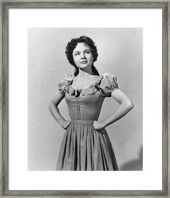 Saddle Tramp, Wanda Hendrix, 1950 Framed Print by Everett