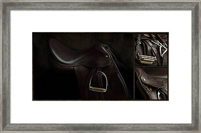 Saddle Triptych Framed Print