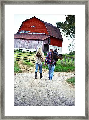 Saddle Up Framed Print by Chastity Hoff