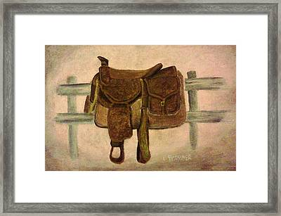 Saddle Up Framed Print by Christy Saunders Church