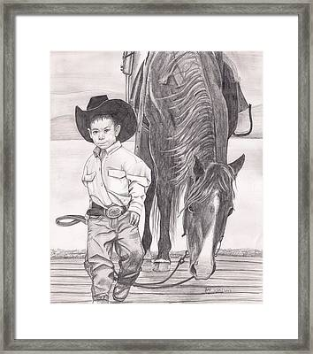 Saddle Up Partner Framed Print by Beverly Marshall