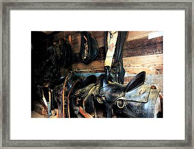 Saddles 103 Framed Print by Vinnie Oakes