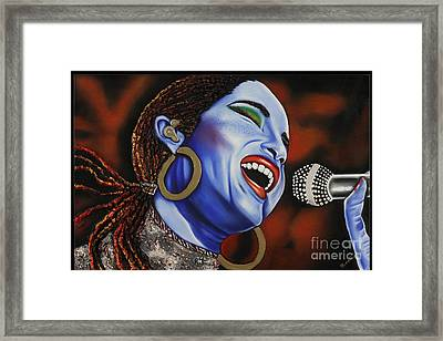 Sade In Concert Framed Print by Nannette Harris