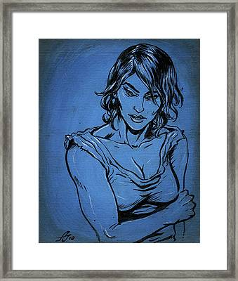 Sadie Blue Framed Print
