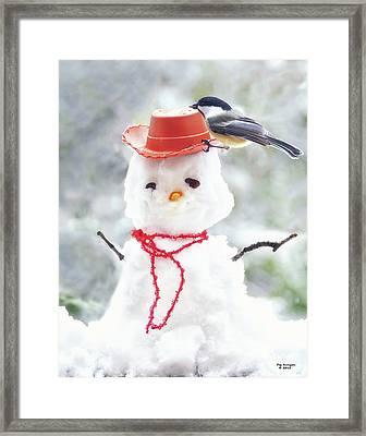 Sadies Snowman Framed Print