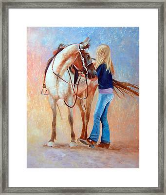 Sadling Up Framed Print by Dale Estka