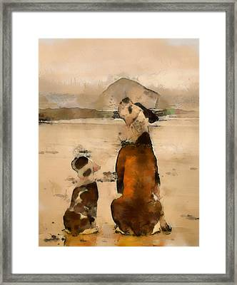 Framed Print featuring the painting Sadness  by Georgi Dimitrov