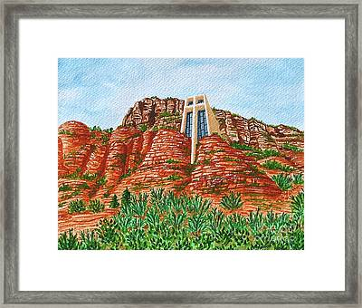 Sadona Church Framed Print by Val Miller