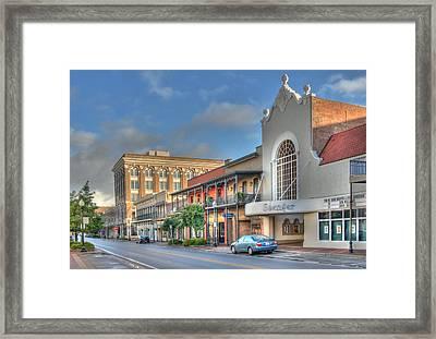 Saenger Theater Framed Print