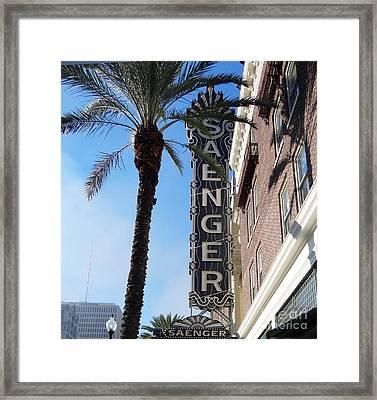 Saenger Theater New Orleans Framed Print by Ecinja Art Works