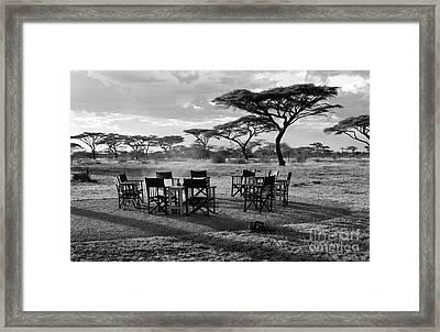 Safari Campfire Framed Print by Chris Scroggins