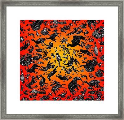 Safari Pattern 3 Framed Print by John Keaton