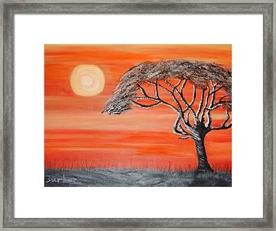 Safari Sunset 2 Framed Print
