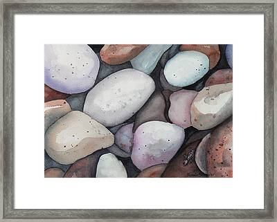 Safe Amongst The Stones Framed Print