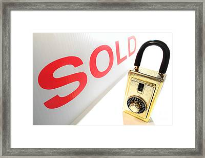 Safe And Sold Framed Print