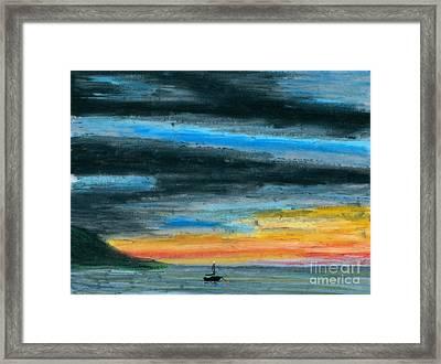 Safe At Harbor Framed Print by R Kyllo