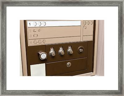 Safe Deposit Box Framed Print