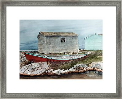 Safe From The Storm Framed Print