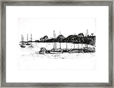 Safe Harbor Framed Print by Deborah Dendler