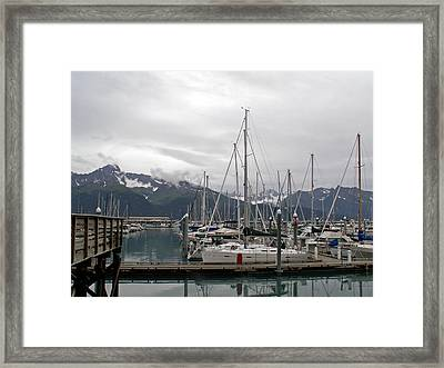 Framed Print featuring the photograph Safe Harbor by Sandy Molinaro