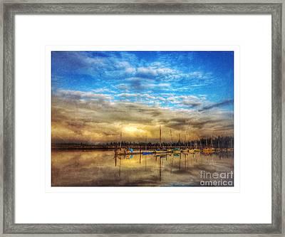 Safe Harbour 3 Framed Print by Venetta Archer