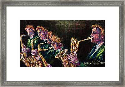 Safe Sax Framed Print by Laurie Tietjen