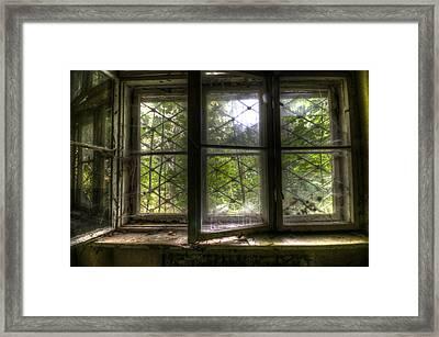 Safe Window Framed Print