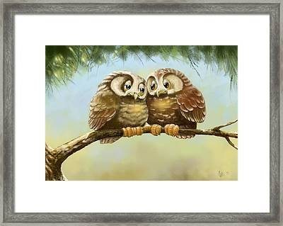 Safe With You Framed Print